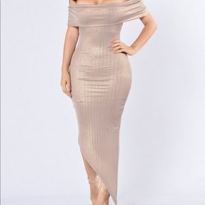 Lavish Lover Dress - Champagne